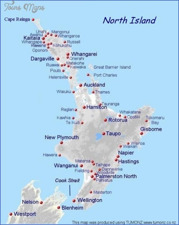 north New Zealand North Island Map