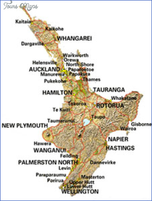 northisland Map North Island New Zealand
