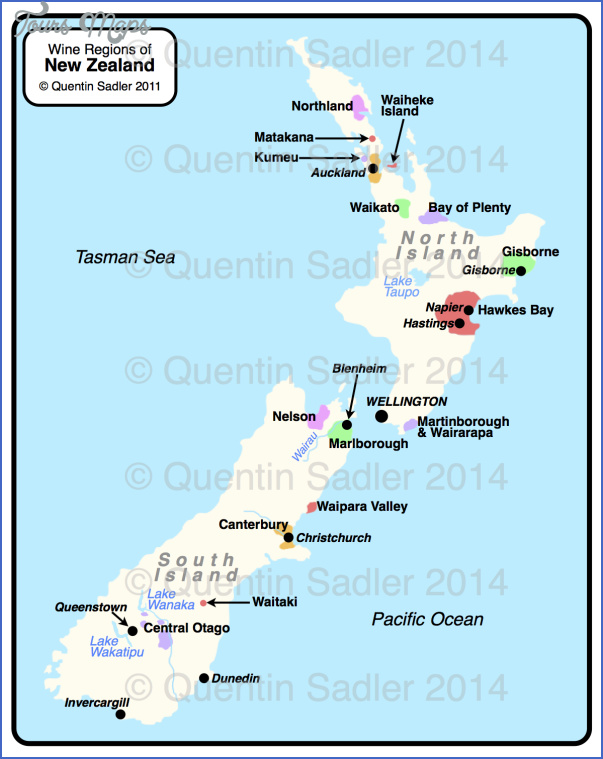 nz watermarked Map Of New Zealand Wine Regions