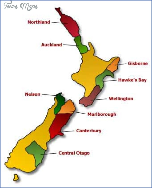 nz wine map New Zealand Wine Map