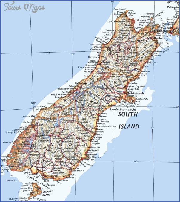 nz south South New Zealand Map