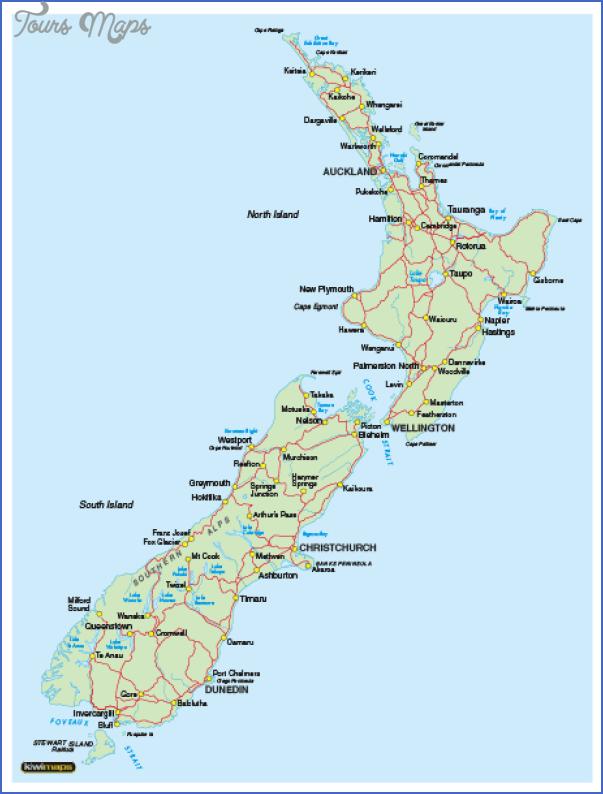 nza4basic Map OF New Zealand