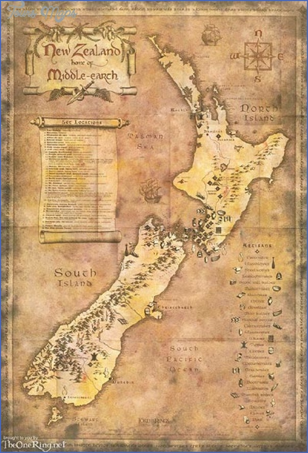 nzlordoftheringstouristmap Lord Of The Rings New Zealand Map