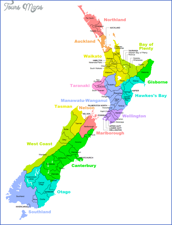 nzterritorialauthorities New Zealand Regions Map