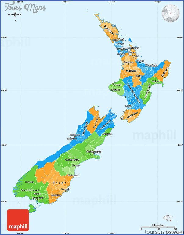 Australia And New Zealand Physical Map Archives ToursMapscom - New zealand physical map