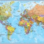political world map poster1 1 150x150 New Zealand On World Map