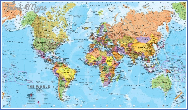 political world map poster1 World Map With New Zealand