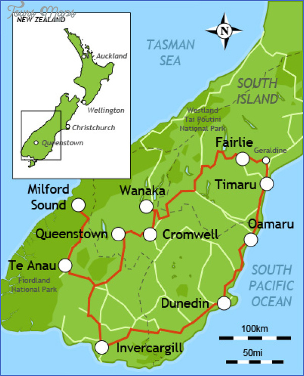 Queenstown New Zealand Map - ToursMaps.com ® on