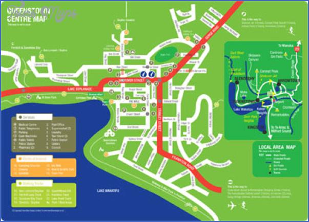 queenstown map Queenstown New Zealand Map