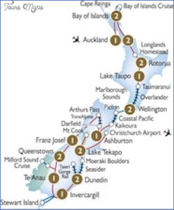 scenic tours grand new zealand rail map New Zealand Railways Map