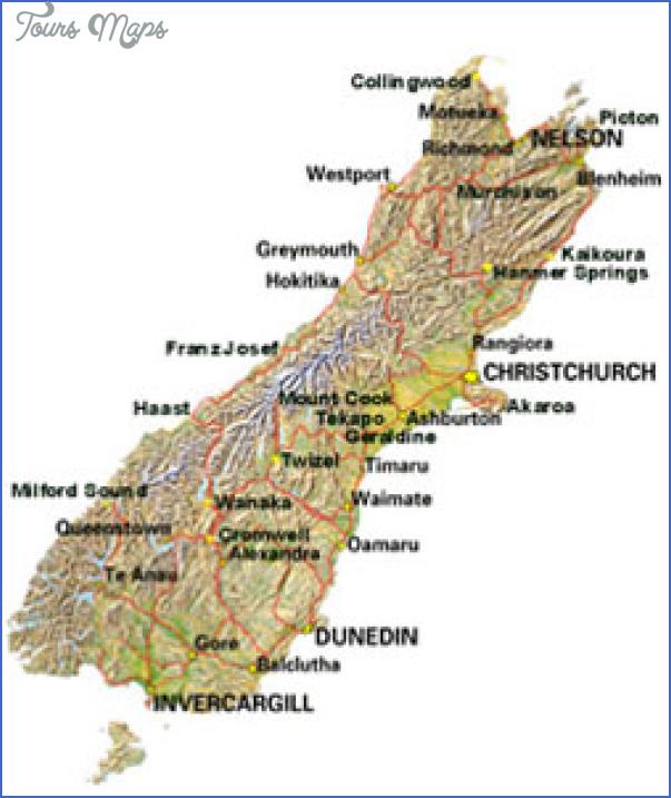 simap2 New Zealand Map South Island
