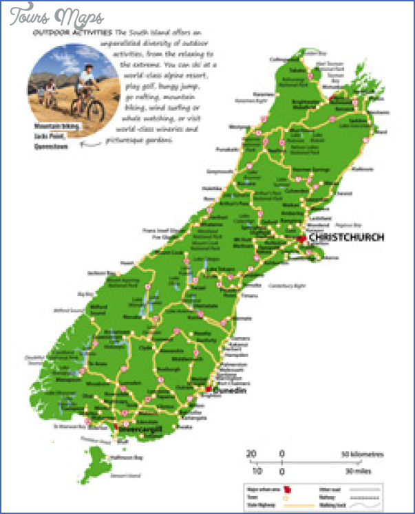 south island map thumbs 1 Map Of South New Zealand