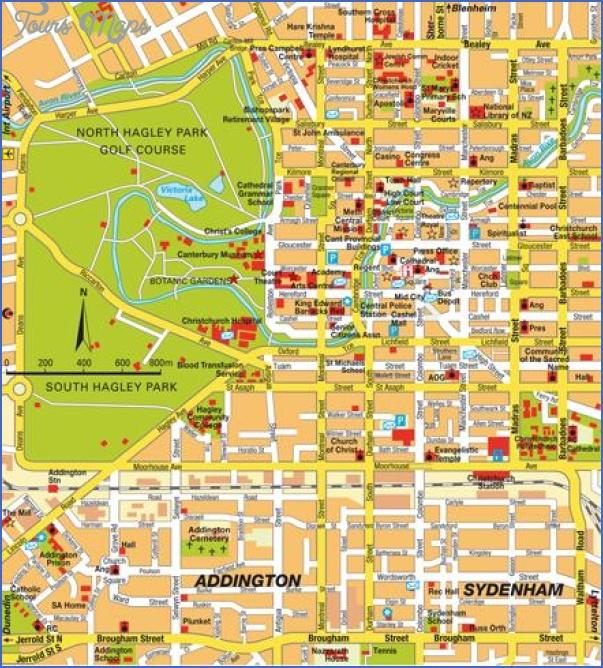 stadtplan christchurch 5799 Christchurch New Zealand Map