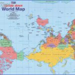 upside down world map 150x150 World Map With New Zealand