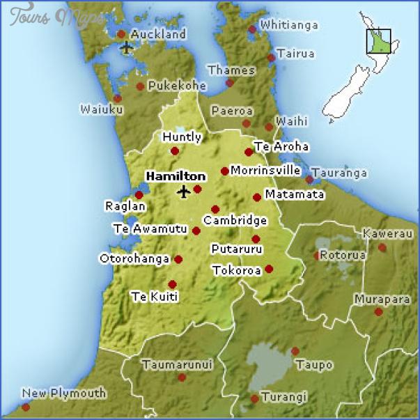 waikato map Hamilton New Zealand Map