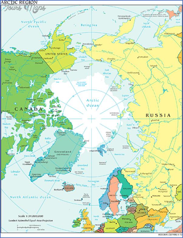 arctic world map 13 Arctic World Map
