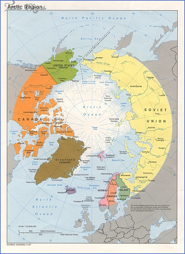 arcticregion Map Of Arctic Region