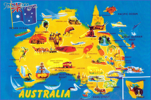 australia attractions map 15 Australia Attractions Map