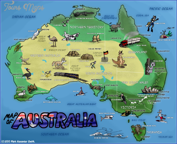 australia attractions map 3 Australia Attractions Map