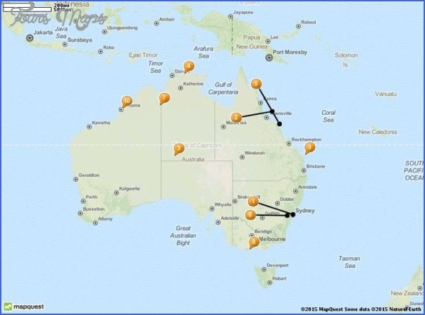 australia attractions map 6 Australia Attractions Map