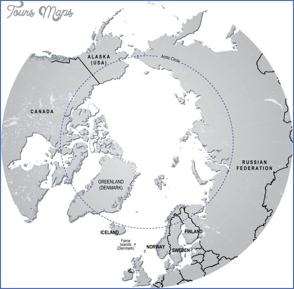 map of arctic circle 0 Map Of Arctic Circle