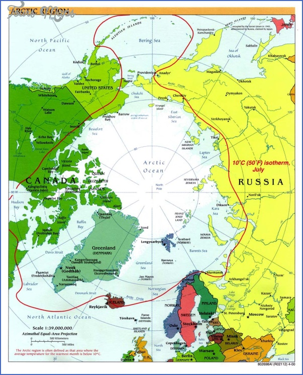 map of arctic region 0 Map Of Arctic Region