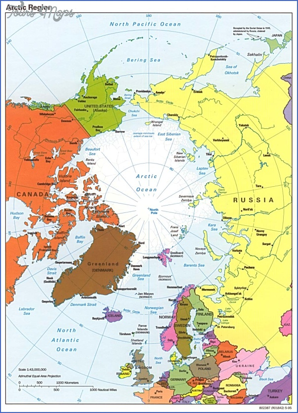 map of arctic region 1 Map Of Arctic Region