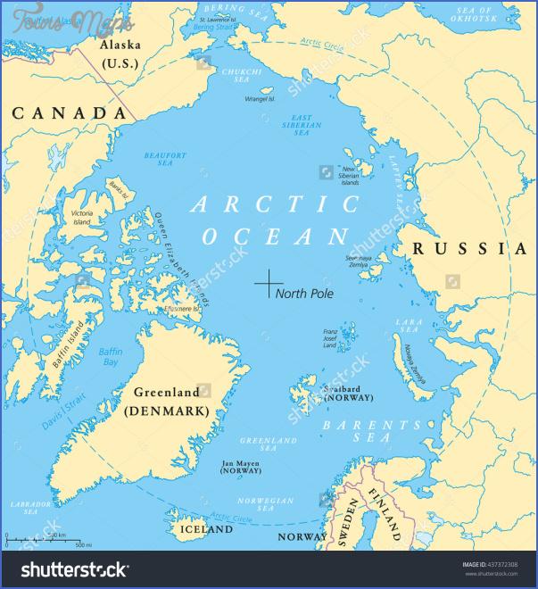 map of the arctic ocean 1 Map Of The Arctic Ocean