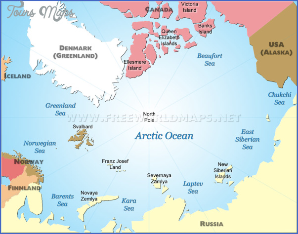 map of the arctic ocean 4 Map Of The Arctic Ocean