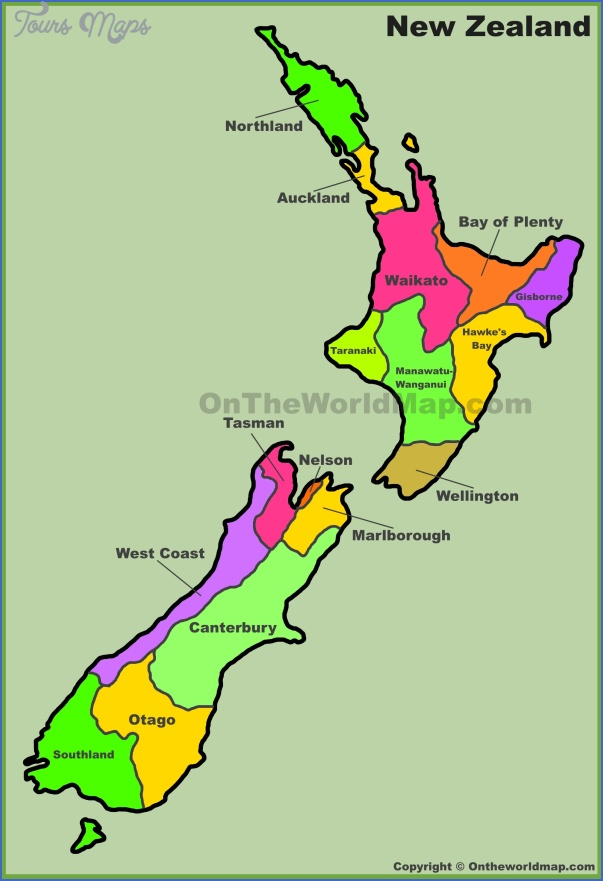 new zealand regions map New Zealand Map