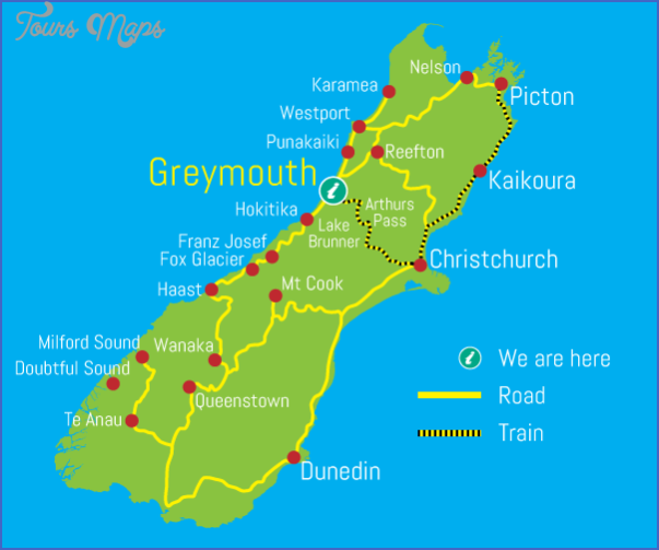 nz map v6 New Zealand Map Tourist Attractions