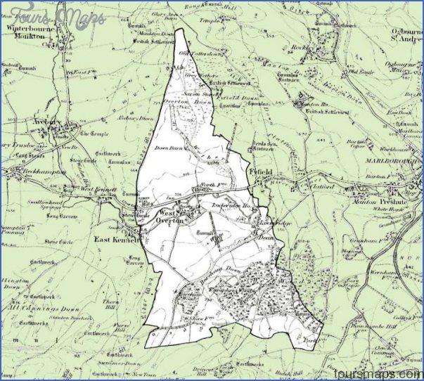 west overton map003 Marlborough, Wiltshire Map