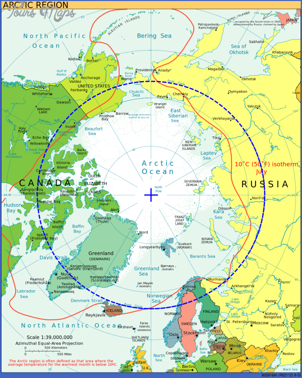 world map with arctic circle 14 World Map With Arctic Circle