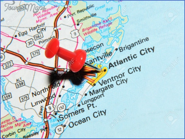 14500196 london uk 13 june 2012 atlantic city new jersey us marked with red pushpin on map atlantic city is a stock photo Atlantic Map With Cities