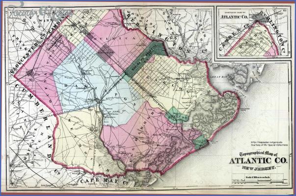 atlanticcounty1872 Atlantic Map With Cities
