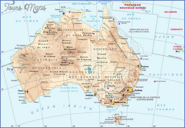 australia map geographical  2 Australia Map Geographical