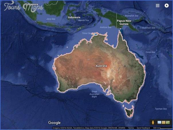 australia map google  5 Australia Map Google
