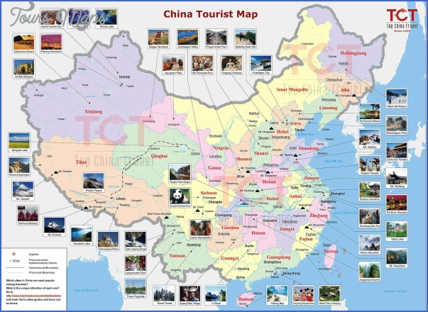 china tourist map China Map With Cities