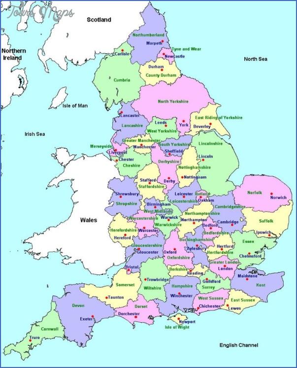 England Map World Toursmaps Com