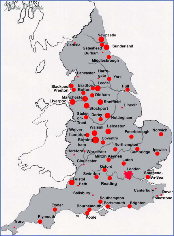 england cities England Map Of Cities