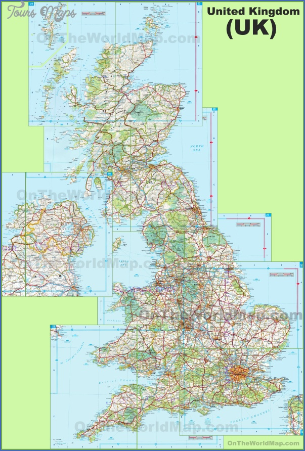 large detailed map of uk with cities and towns England Map Detailed
