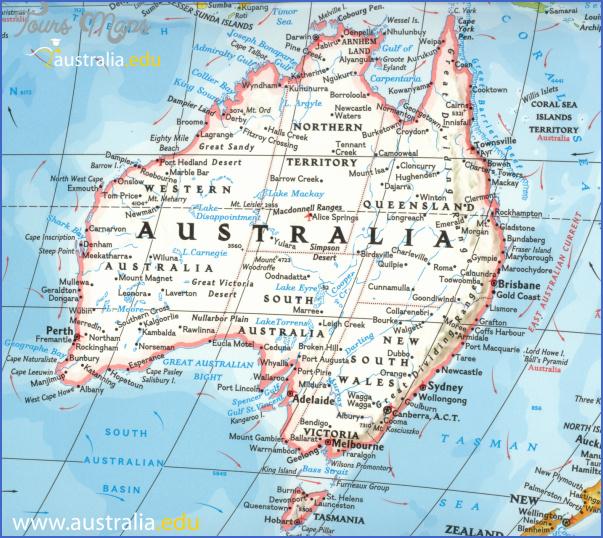 map of australia travel print Australia Map Images
