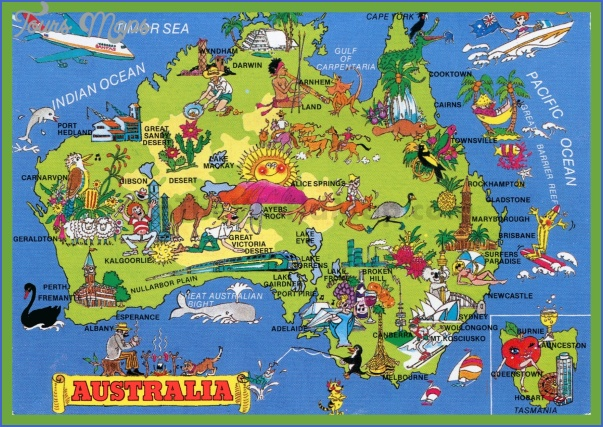 tourist map of australia Australia Map Images