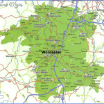 worcestershire map detailed 150x150 England Map Detailed