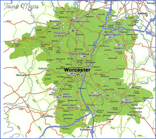 worcestershire map detailed England Map Detailed