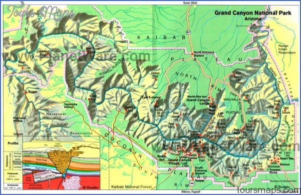 Map of Arizona - Grand Canyon National Park - East | PlanetWare ...