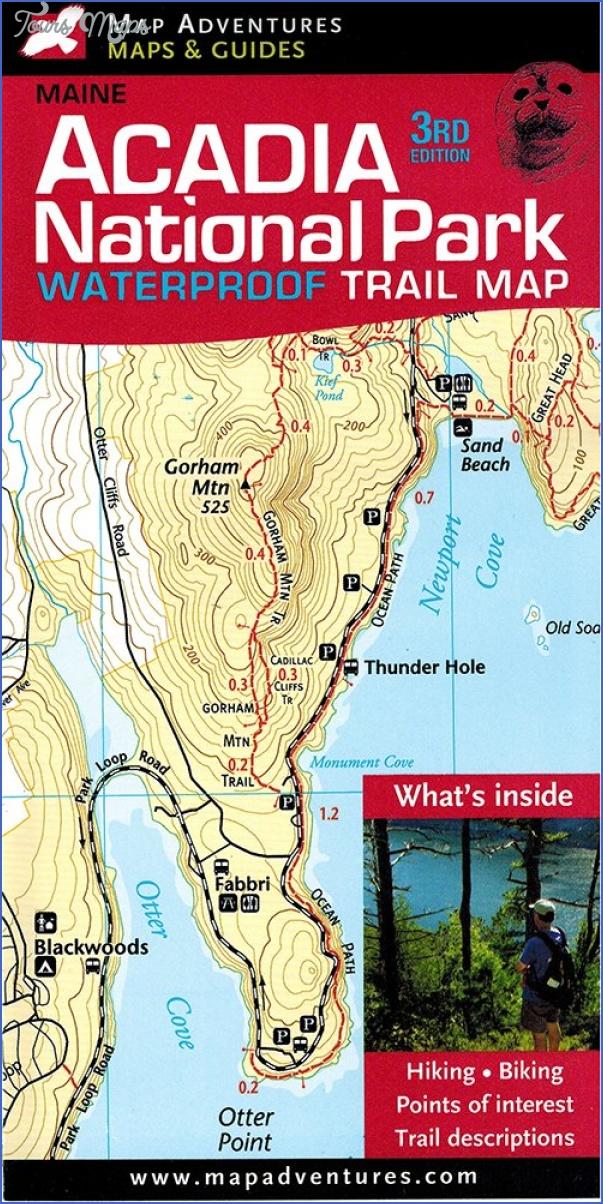 acadia national park hiking map 11 Acadia National Park Hiking Map