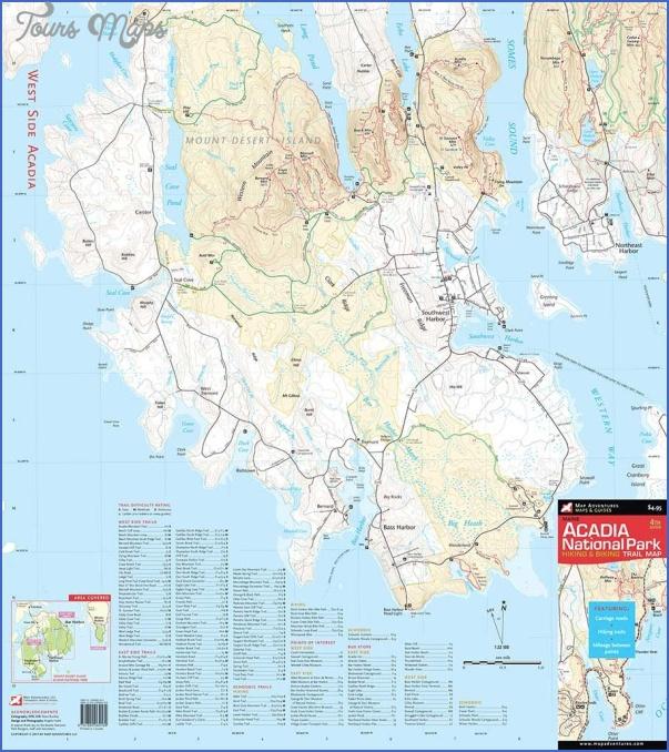 acadia national park hiking map 12 Acadia National Park Hiking Map