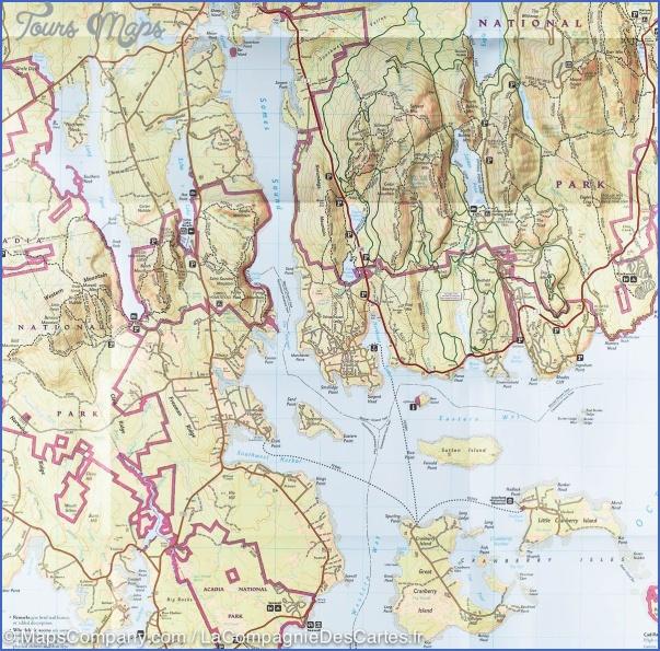 acadia national park hiking map 13 Acadia National Park Hiking Map