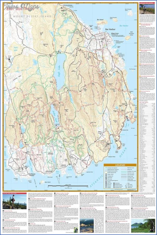 acadia national park hiking map 14 Acadia National Park Hiking Map